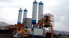 HZS50 Concrete Batching Plant in Peru