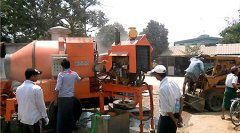 Concrete Mixer with Pump in Burma