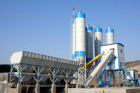 <b>Belt conveyor type concrete batching plant</b>