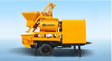 electric concrete mixer with pump